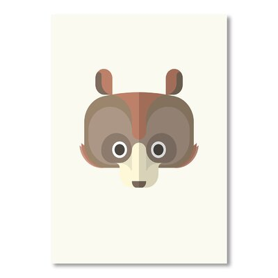 Americanflat Bear by Christian Jackson Graphic Art in Brown