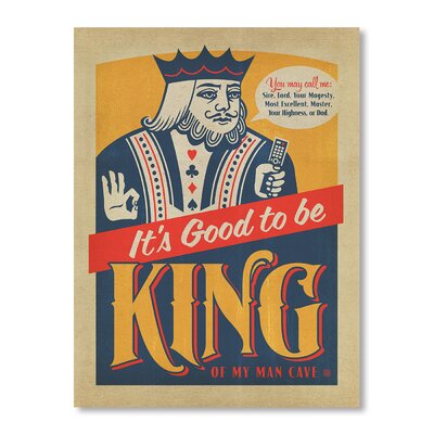 Americanflat Good To Be King by Anderson Group Vintage Advertisement Wrapped on Canvas