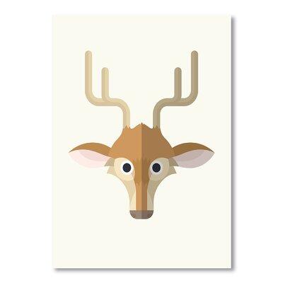 Americanflat Deer Print by Christian Jackson Graphic Art in Brown