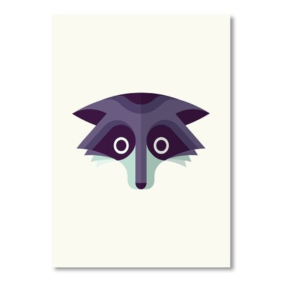 Americanflat Raccoon by Christian Jackson Graphic Art