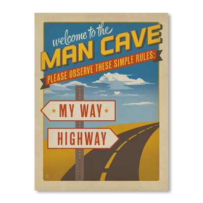 Americanflat My Way Highway by Anderson Design Group Vintage Advertisement