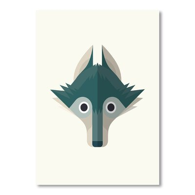 Americanflat Wolf by Christian Jackson Graphic Art