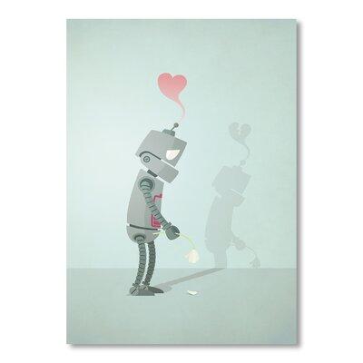 Americanflat Sad Robot by Christian Jackson Graphic Art