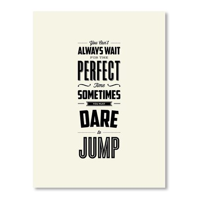 Americanflat Dare To Jump by Brett Wilson Typography Wrapped on Canvas