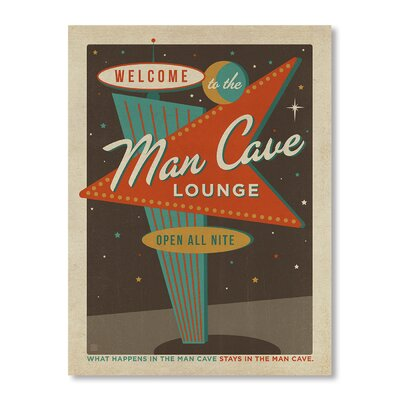 Americanflat Vegas Man Cave Sign by Anderson Design Group Vintage Advertisement Wrapped on Canvas