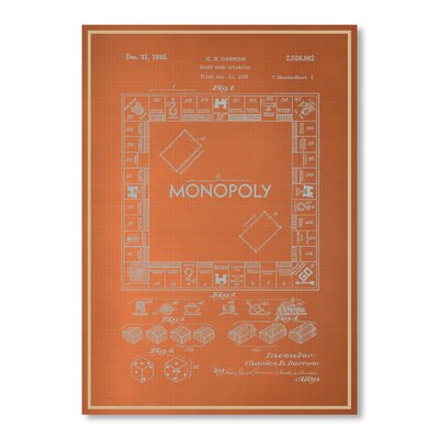 Americanflat Monopoly Graphic Art on Canvas