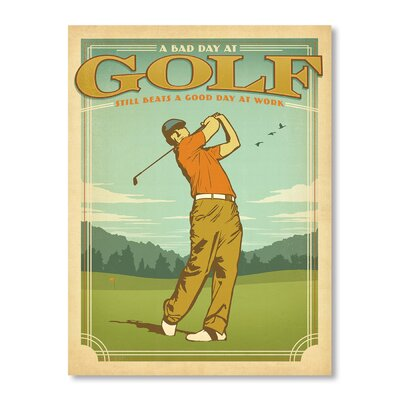 Americanflat Bad Day Golf Vintage Advertisement on Canvas