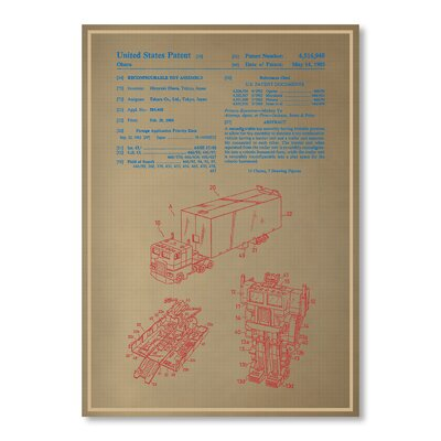 Americanflat Optimus Prime by Blue Print Images Graphic Art in Beige