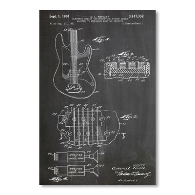 Americanflat Fender Guitar Pick ups by House of Borders Graphic Art in Grey