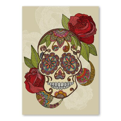 Americanflat Sugar Skull by Valentina Ramos Graphic Art Wrapped on Canvas