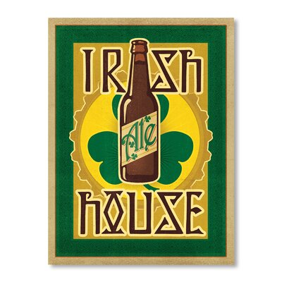 Americanflat Irish Ale House by Anderson Design Group Vintage Advertisement Wrapped on Canvas