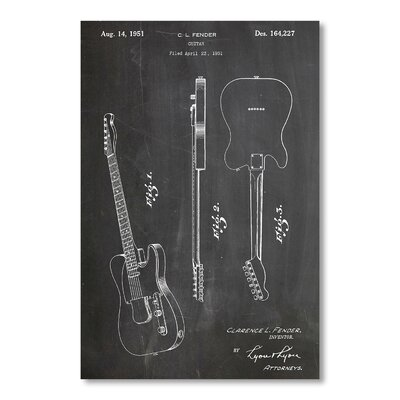 Americanflat Fender Guitar by House of Borders Graphic Art