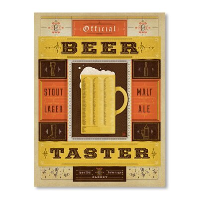Americanflat Official Beer Taster Vintage Advertisement on Canvas