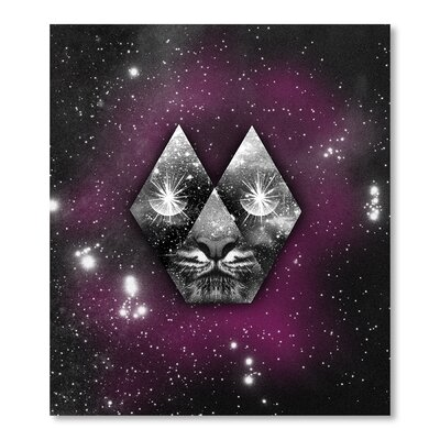Americanflat Cosmic Tiger by Ali Gulec Graphic Art in Purple