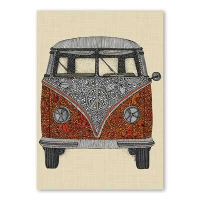 Americanflat The Van by Valentina Ramos Graphic Art Wrapped on Canvas