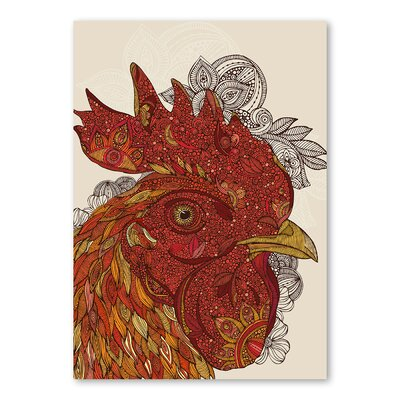 Americanflat Tiberio by Valentina Ramos Graphic Art in Red