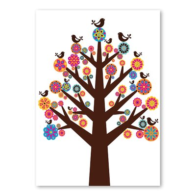 Americanflat Tree of Flowers by Valentina Ramos Graphic Art Wrapped on Canvas