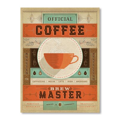 Americanflat Official Brew Master by Man Cave Vintage Advertisement Wrapped on Canvas