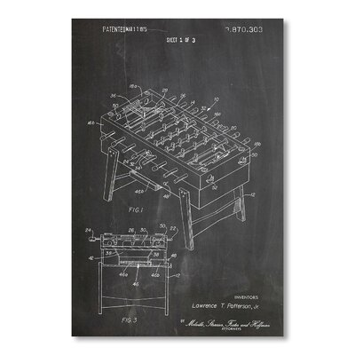 Americanflat Football by House of Borders Graphic Art in Black/White