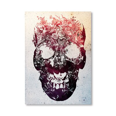 Americanflat Floral Skull by Ali Gulec Graphic Art