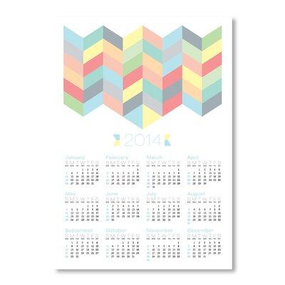 Americanflat Calendar Chevron Pattern by Patricia Pino Graphic Art