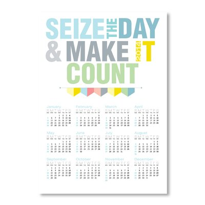 Americanflat Calendar Seize the Day by Patricia Pino Typography