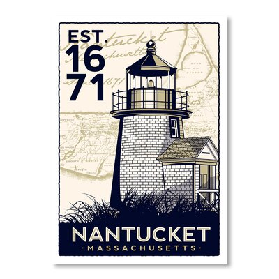 Americanflat Nantucket by Matthew Schnepf Vintage Advertisement Wrapped on Canvas