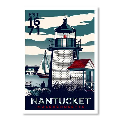 Americanflat Nantucket II by Matthew Schnepf Vintage Advertisement Wrapped on Canvas