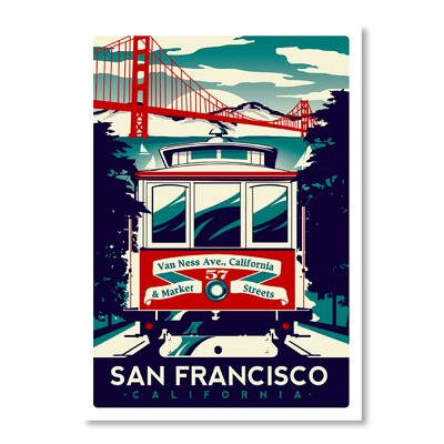Americanflat San Francisco by Matthew Schnepf Vintage Advertisement Wrapped on Canvas