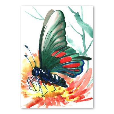 Americanflat Butterfly by Suren Nersisyan Art Print in Green