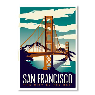 Americanflat San Francisco by Matthew Schnepf Vintage Advertisement on Canvas