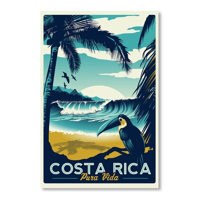 Americanflat Costa Rica by Matthew Schnepf Vintage Advertisement Wrapped on Canvas