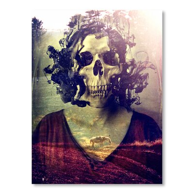 Americanflat Miss Skull by Ali Gulec Graphic Art