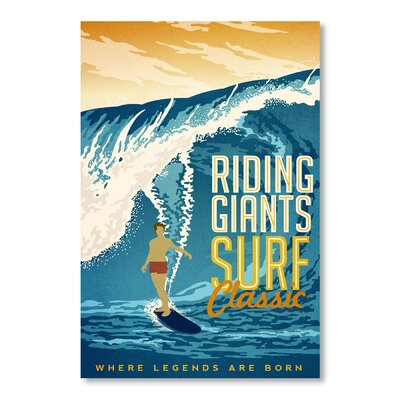 Americanflat Riding Giants by Matthew Schnepf Vintage Advertisement