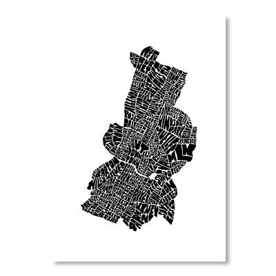 Americanflat Austin by Joe Brewton Typography Wrapped on Canvas