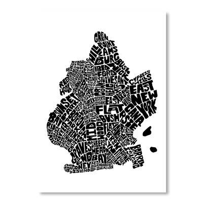 Americanflat Brooklyn by Joe Brewton Typography on Canvas