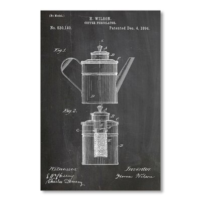 Americanflat Coffee Percolator by House of Borders Graphic Art in Grey