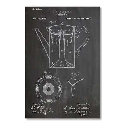 Americanflat Coffee Pot by House of Borders Graphic Art in Grey