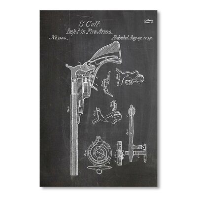 Americanflat Colt Fire Arm 1839 by House of Borders Graphic Art in Grey