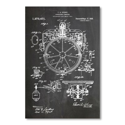 Americanflat Compass by House of Borders Graphic Art in Grey