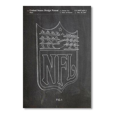 Americanflat NFL by House of Borders Graphic Art in Grey