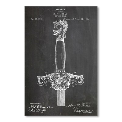 Americanflat Design for a Sword - Hilt by House of Borders Graphic Art in Grey