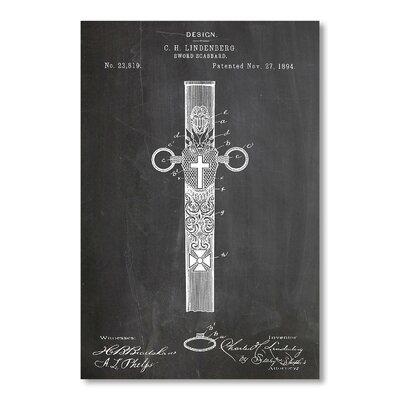 Americanflat Design for a Sword - Scabbard by House of Borders Graphic Art in Grey