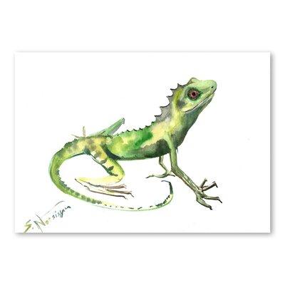 Americanflat Lizard by Suren Nersisyan Art Print