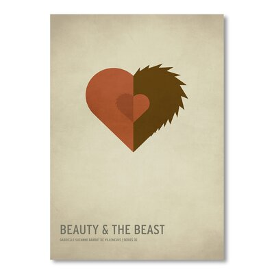 Americanflat Beauty and The Beast by Christian Jackson Vintage Advertisement in Brown