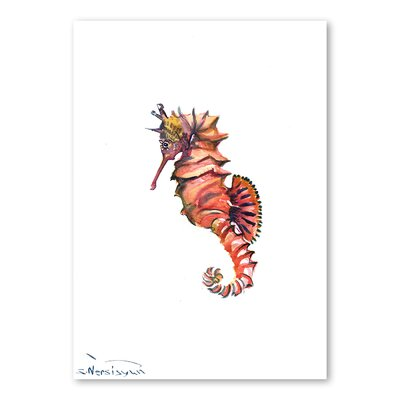 Americanflat Seahorse by Suren Nersisyan Art Print in Orange