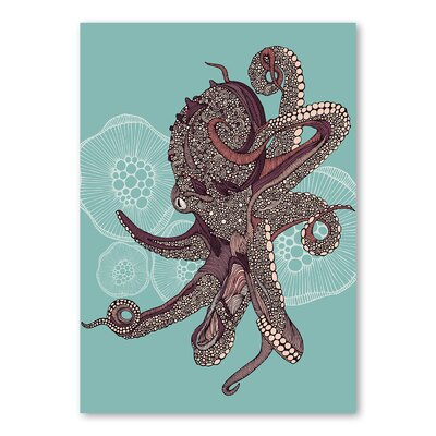 Americanflat Octopus Bloom by Valentina Ramos Graphic Art Wrapped on Canvas