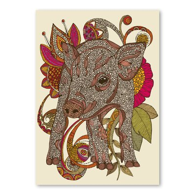 Americanflat Paisley Piggy by Valentina Ramos Graphic Art Wrapped on Canvas