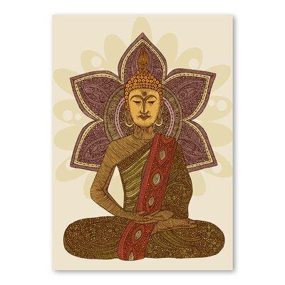 Americanflat Sitting Buddha by Valentina Ramos Graphic Art