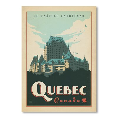 Americanflat Quebec by Anderson Design Group Vintage Advertisement Wrapped on Canvas